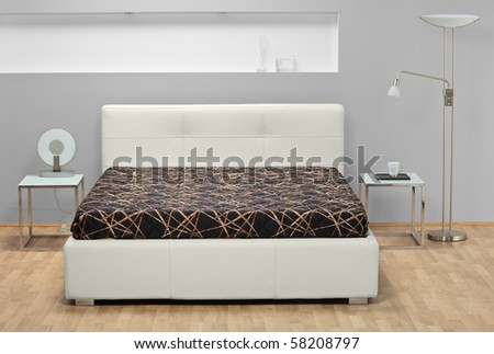 A studio shot of bed - stock photo