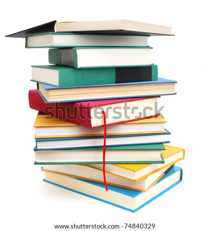 A studying course books - stock photo