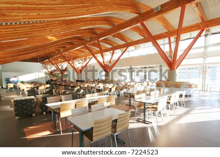 A stunning new cafeteria in a university in Squamish, BC, Canada. - stock photo