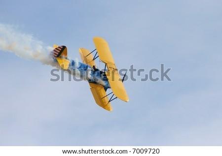 A Stunt Plane - stock photo