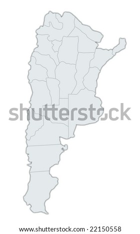 High Detailed Vector Map Argentina Provinces Stock Vector - Argentina map provinces