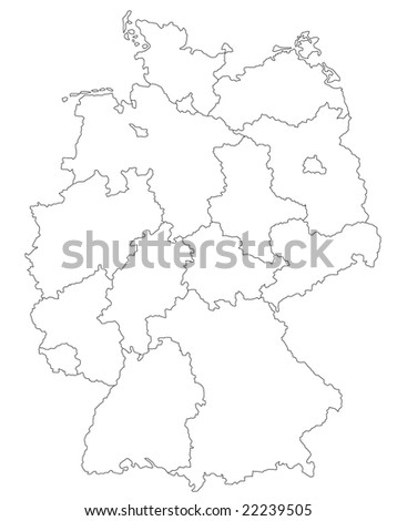 Simple Map Germany Stock Vector Shutterstock - Germany map drawing