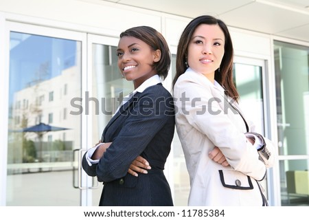 A successful business team of diverse women - stock photo