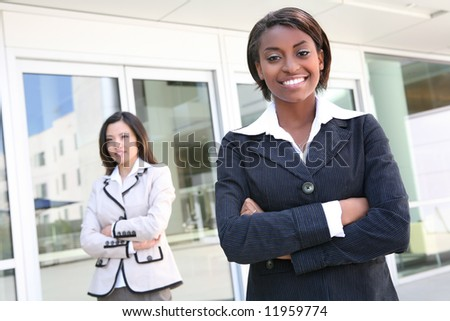 A successful business team of diverse women