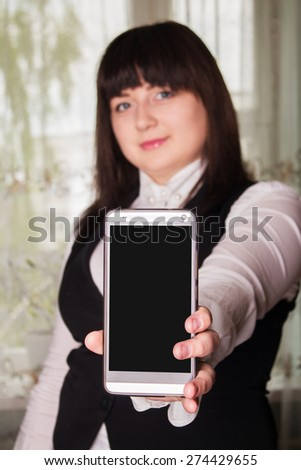 A successful business woman, a woman in business clothing - stock photo