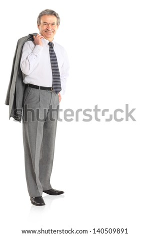 A successful businessman in the age. - stock photo