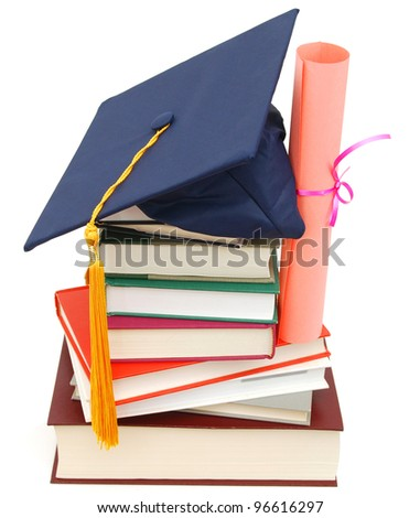 A successful degree on school - stock photo