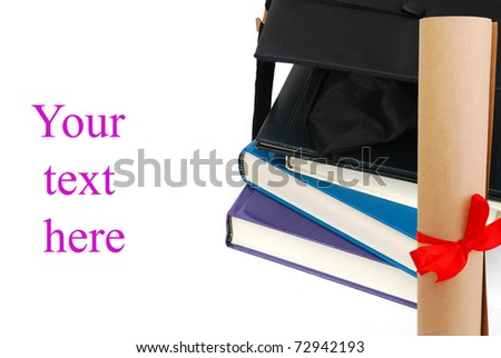 A successful graduation on learning - stock photo