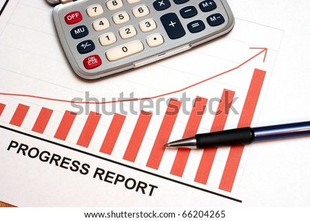 A successful progress report showing the slow and steady rise to the top. - stock photo