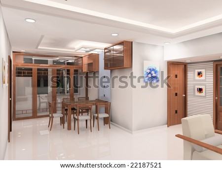 a succinct dining room design