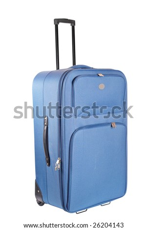 A suitcase trolley isolated on white background. Path included - stock photo