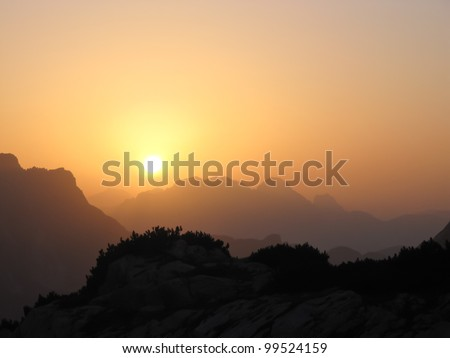 A summer sunrise in Dolomites