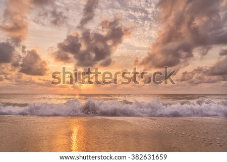A Sunset at the beach - stock photo