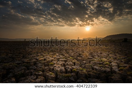 A sunset for summer season. - stock photo