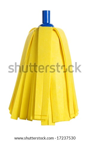 a super absorbent mop without handle isolated over white, clipping path included