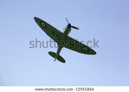 a supermarine spitfire - stock photo