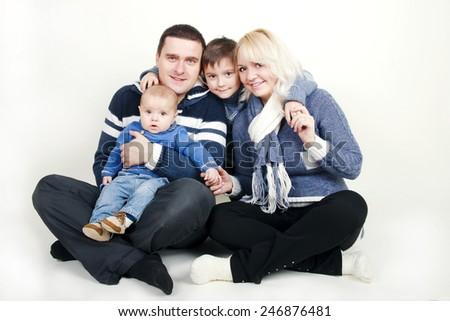 A sweet happy family - stock photo