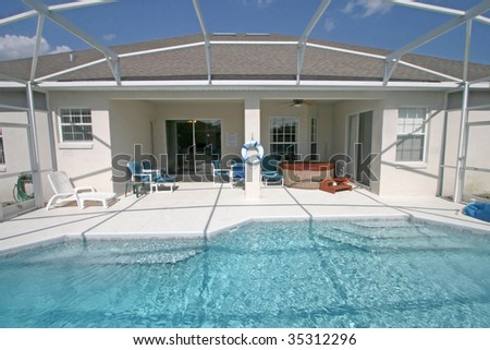 A Swimming Pool and Lanai in Florida.