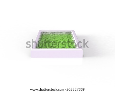 A Swimming pool. 3D rendered Illustration. Isolated on white - stock photo