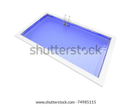 A Swimming pool. 3D rendered Illustration. Isolated on white. - stock photo