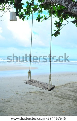 A swing on the beach at Kho Chang island, Thailand.