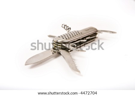 A Swiss army style knife - stock photo