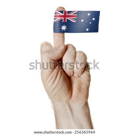 Symbol Challenge Middle Finger Flag Australia Stock Photo Royalty