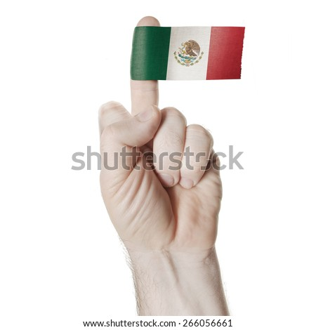 Symbol Challenge Middle Finger Flag Mexico Stock Photo 100 Legal