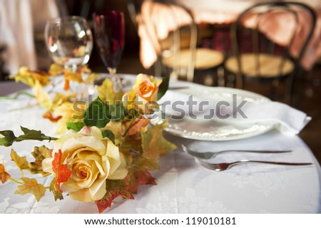 a table set for two spouses