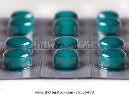A tablet blister - stock photo