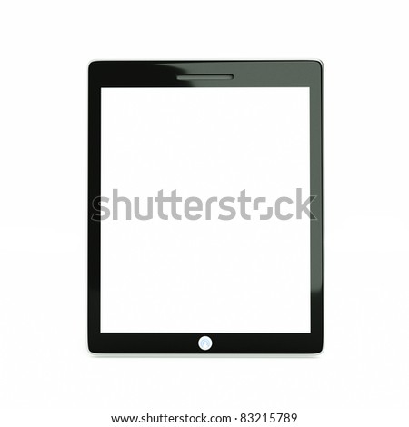 a tablet computer isolated on white - stock photo