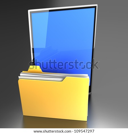 A Tablet PC / Pad device. 3D rendered illustration.