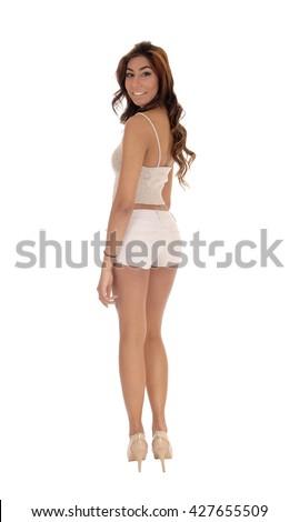 Tall nude women standing