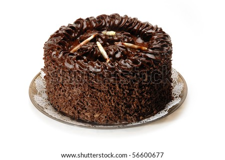 A tall & rich chocolate cake - stock photo