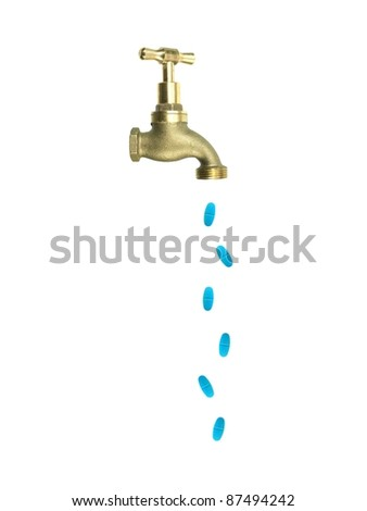A tap isolated against a white background - stock photo