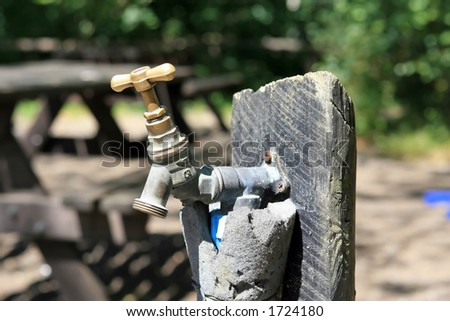 A tap with connector thread for hose - stock photo