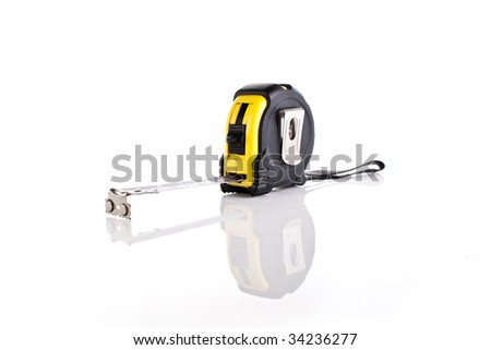 A tape measure - stock photo