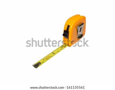 A Tape Measure Extended - stock photo