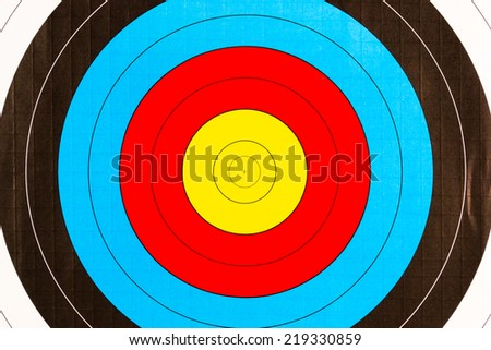 a target for arrows close up