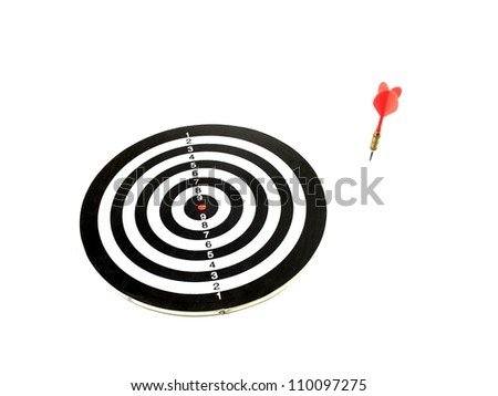 A target isolated against a white background