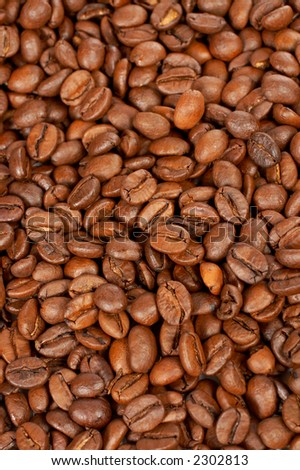 A tasty and aromatic coffee beans background