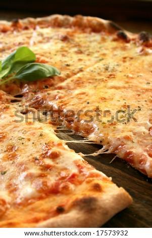 A tasty italian pizza - stock photo
