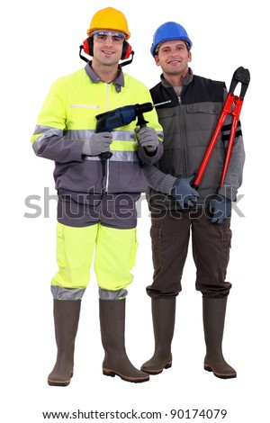 A team of tradesmen