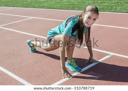 A teen who is ready to workout - stock photo