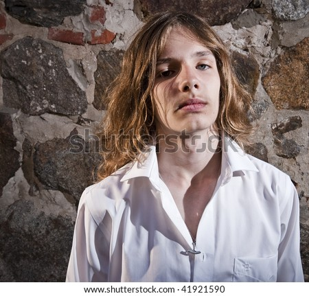 long hair boy stock photos images  pictures  shutterstock