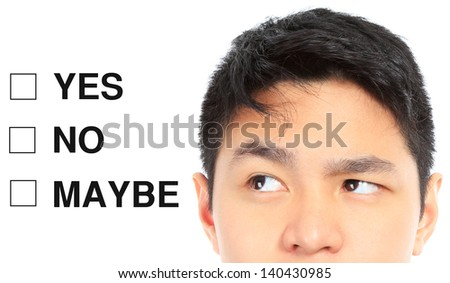 A teenager thinking of his decision  - stock photo