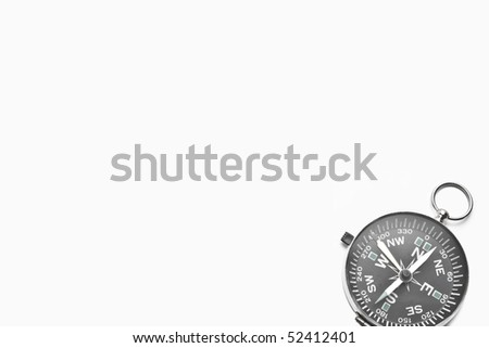 A template of a compass isolated in white. - stock photo