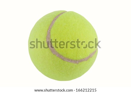 A tennis ball. Isolated on white background.