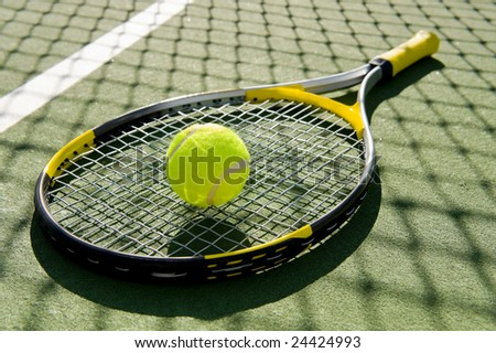 a Tennis Racket And New Tennis