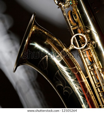 A Tenor Sax With A Shadow - stock photo